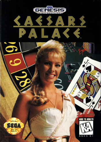 Caesars Palace Sega Genesis cover artwork