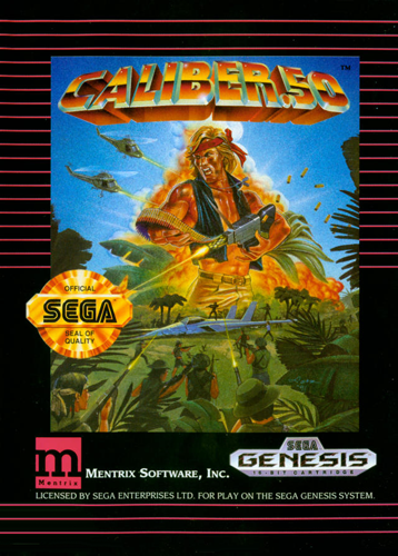 Caliber.50 Sega Genesis cover artwork