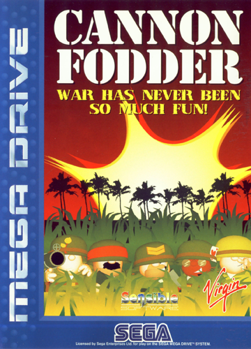 Cannon Fodder Sega Genesis cover artwork