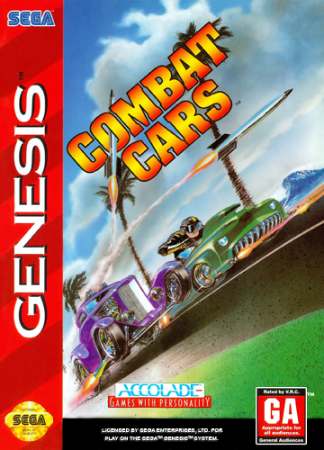 Combat Cars Sega Genesis cover artwork