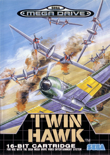 Twin Hawk Sega Genesis cover artwork