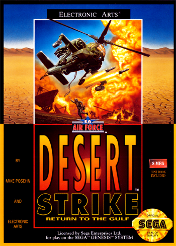 Desert Strike - Return To The Gulf Sega Genesis cover artwork