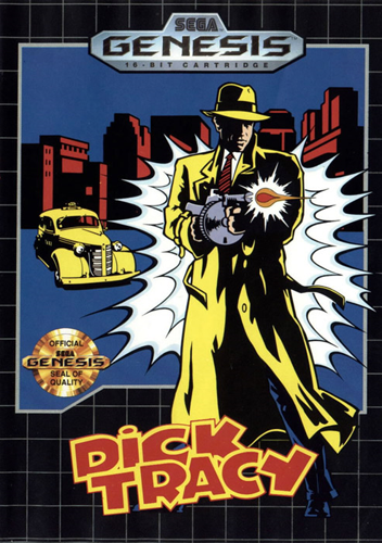 Dick Tracy Sega Genesis cover artwork