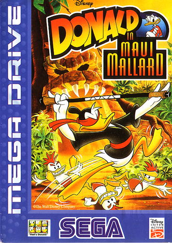 Donald in Maui Mallard Sega Genesis cover artwork