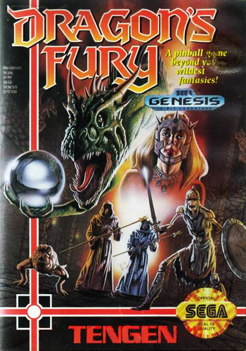 Dragon's Fury Sega Genesis cover artwork