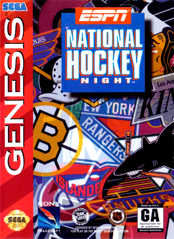 ESPN National Hockey Night Sega Genesis cover artwork