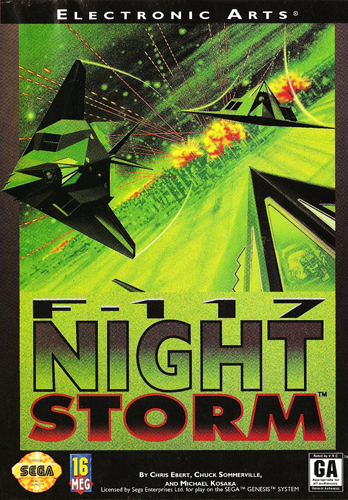 F-117 Night Storm Sega Genesis cover artwork