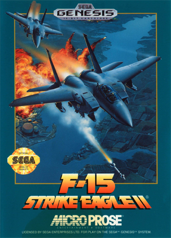 F-15 Strike Eagle II Sega Genesis cover artwork