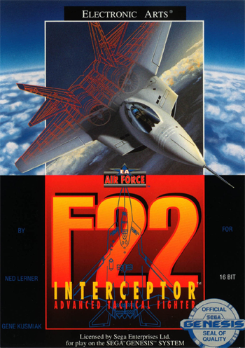 F-22 Interceptor Sega Genesis cover artwork