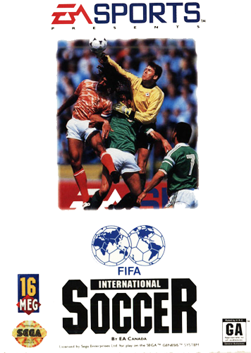FIFA International Soccer Sega Genesis cover artwork