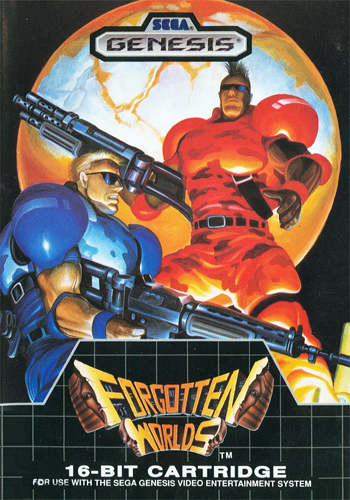 Forgotten Worlds Sega Genesis cover artwork
