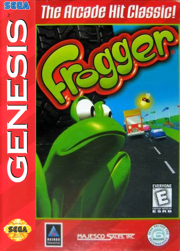 Frogger Sega Genesis cover artwork