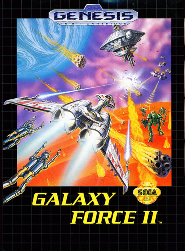 Galaxy Force II Sega Genesis cover artwork
