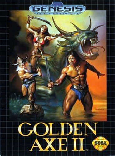 Golden Axe II Sega Genesis cover artwork