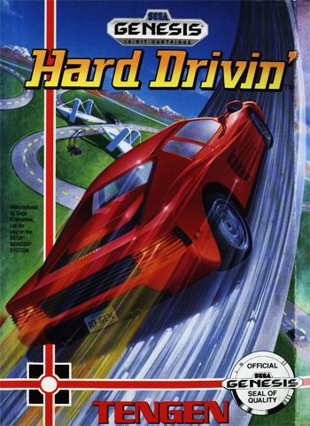Hard Drivin' Sega Genesis cover artwork