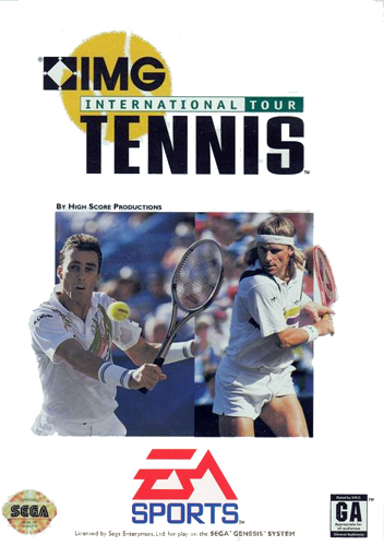 IMG International Tour Tennis Sega Genesis cover artwork