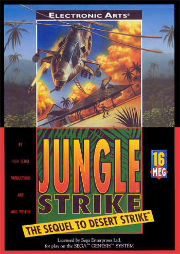 Jungle Strike Sega Genesis cover artwork