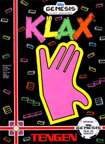 Klax Sega Genesis cover artwork