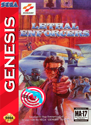 Lethal Enforcers Sega Genesis cover artwork