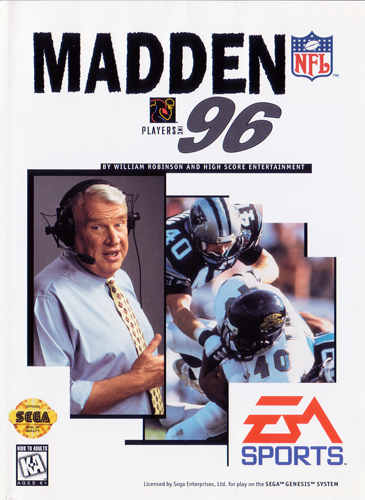 Madden NFL 96 Sega Genesis cover artwork