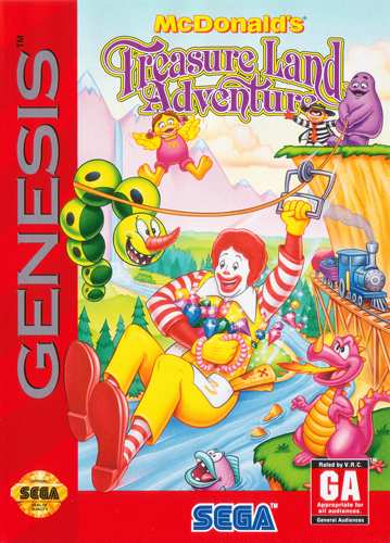 McDonald's Treasure Land Adventure Sega Genesis cover artwork