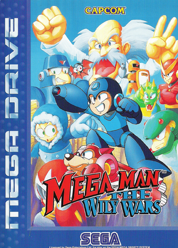 Mega Man - The Wily Wars Sega Genesis cover artwork
