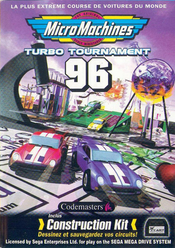 Micro Machines Turbo Tournament 96 Sega Genesis cover artwork