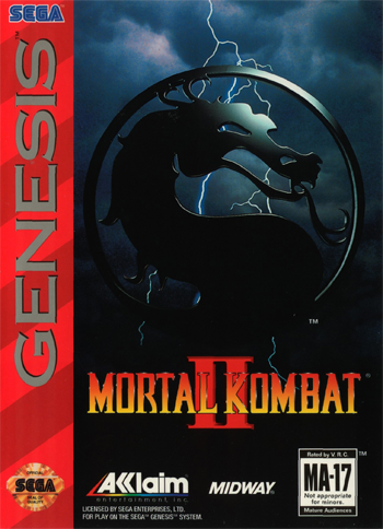 Mortal Kombat 2 Sega Genesis cover artwork