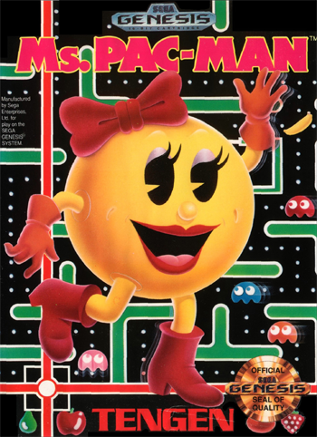 Ms. Pac-Man Sega Genesis cover artwork