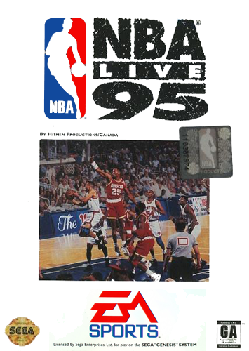 NBA Live 95 Sega Genesis cover artwork