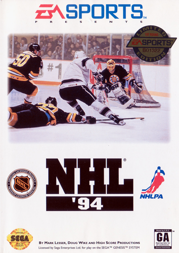 NHL '94 Sega Genesis cover artwork