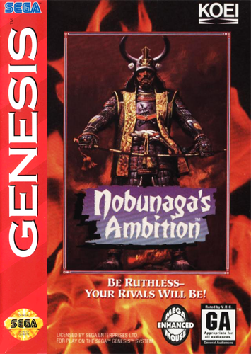 Nobunaga's Ambition Sega Genesis cover artwork