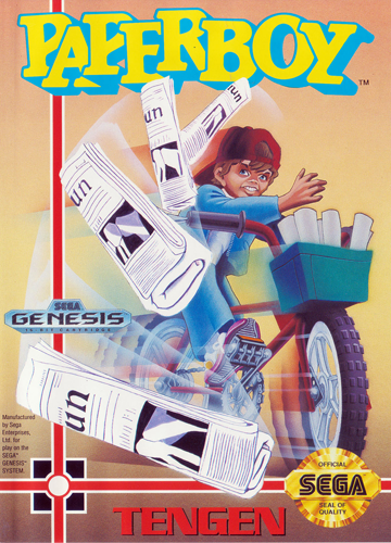 Paperboy Sega Genesis cover artwork