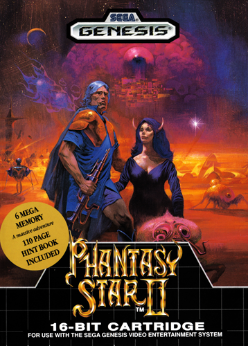 Phantasy Star II Sega Genesis cover artwork