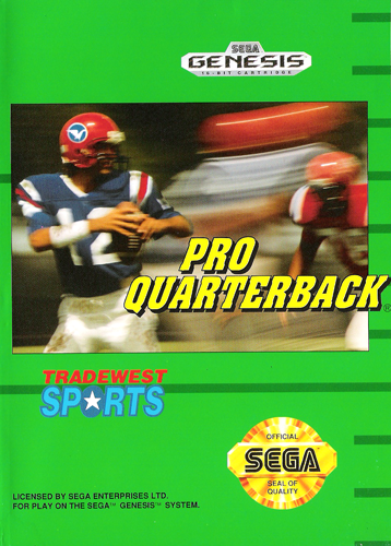 Pro Quarterback Sega Genesis cover artwork