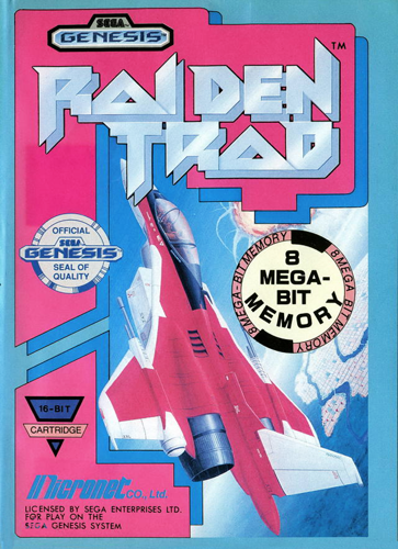 Raiden Trad Sega Genesis cover artwork