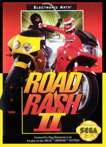 Road Rash 2 Sega Genesis cover artwork