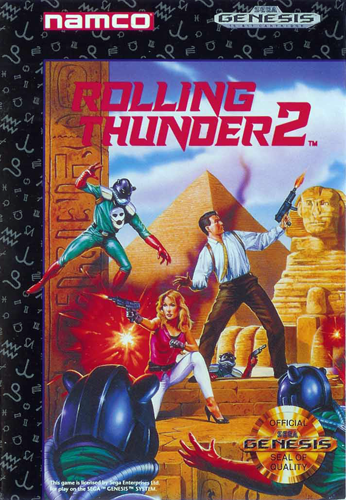 Rolling Thunder 2 Sega Genesis cover artwork