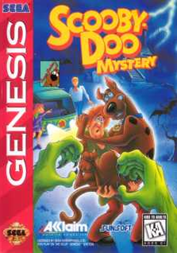 Scooby-Doo Mystery Sega Genesis cover artwork