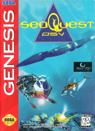 SeaQuest DSV Sega Genesis cover artwork