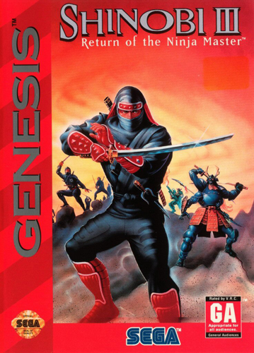 Shinobi III - Return of the Ninja Master Sega Genesis cover artwork