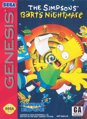 Simpsons, The - Bart's Nightmare Sega Genesis cover artwork
