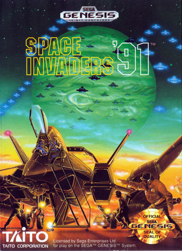 Space Invaders '91 Sega Genesis cover artwork