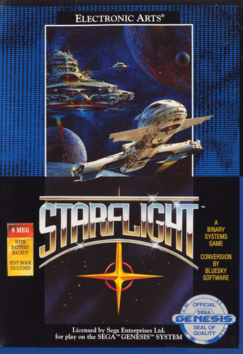 Starflight Sega Genesis cover artwork