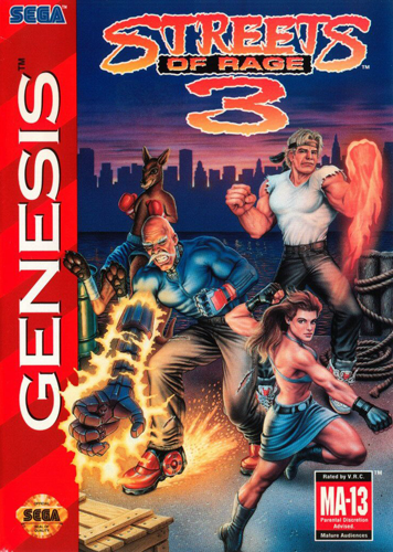 Streets of Rage 3 Sega Genesis cover artwork