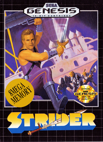 Strider Sega Genesis cover artwork
