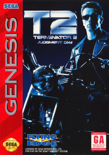 T2 - Terminator 2 - Judgment Day Sega Genesis cover artwork