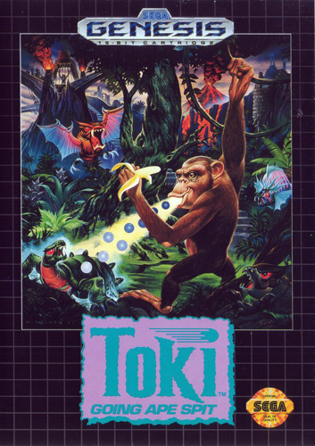 Toki - Going Ape Spit Sega Genesis cover artwork