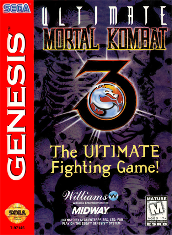 Ultimate Mortal Kombat 3 Sega Genesis cover artwork