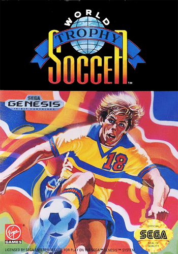 World Trophy Soccer Sega Genesis cover artwork